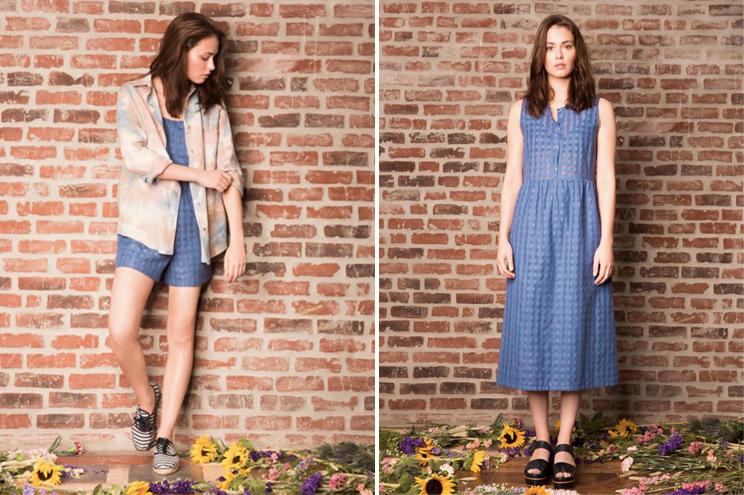 Anna Studio, Kollektion Sommer 2015, Shorts und Jacke mit Sommerkleid in Blau, online bestellen