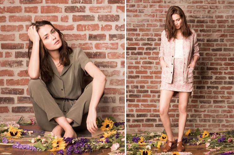 Kollektion Sommer 2015, Anna Studio, Jumpsuit in Khaki und Minirock mit Blumenmuster, online bestellen