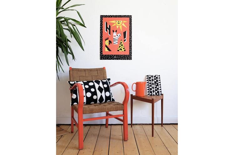 Poster mit Tiger und Löwe, Accessoires und Dekoration für Kinderzimmer von Anny Who, online bstellen
