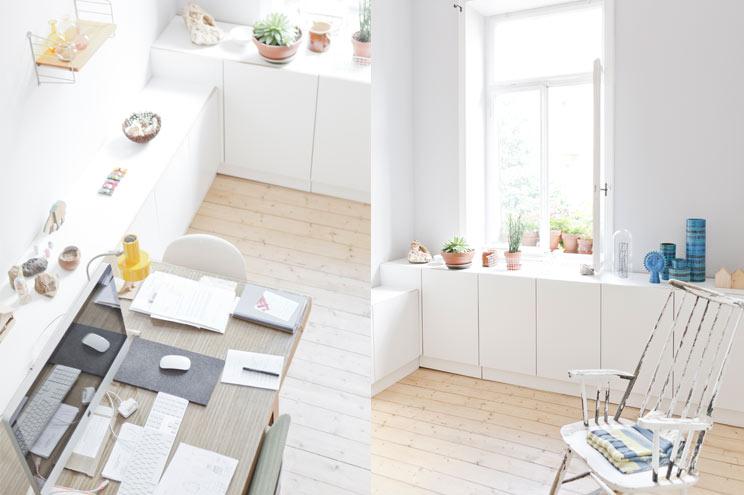 Kleine Wohnung mit Arbeitsplatz Zuhause, Stauraum schaffen, Büro Einrichtung, Interior, Dekoration, Skandinavien