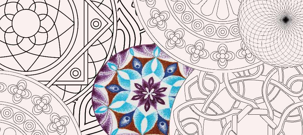 Badematten von Grund mit Mandala Muster, bunt