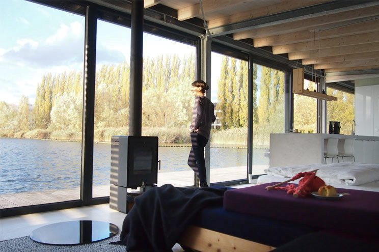Hausboot in Berlin, Rummelsburger Bucht, Reise Tipp für einen Städttrip nach Berlin