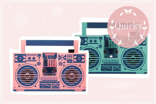 Berlin BoomBox, Lautsprecher aus Pappe im Ghettoblaster-Design für Smartphone online bestellen