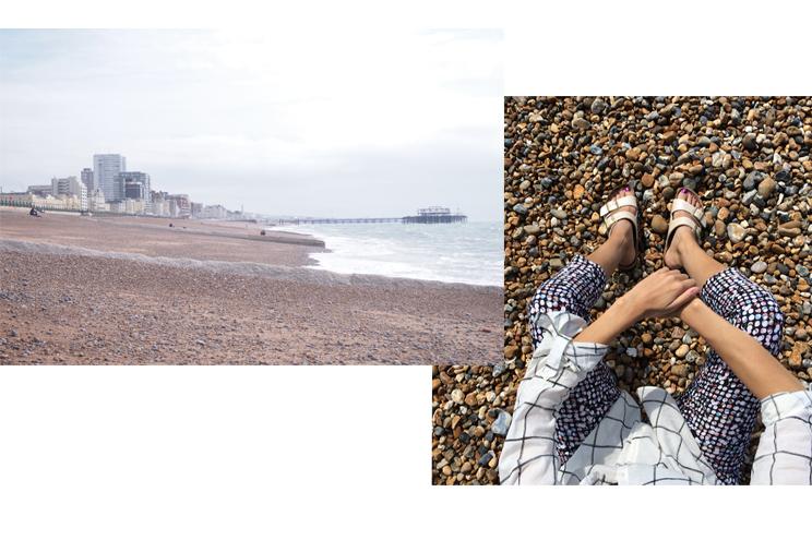 Stadtteil Hove in Brighton und Kieselstein Strand, historischer Pier, Städtereise, Sehenswürdigkeiten, Tipps