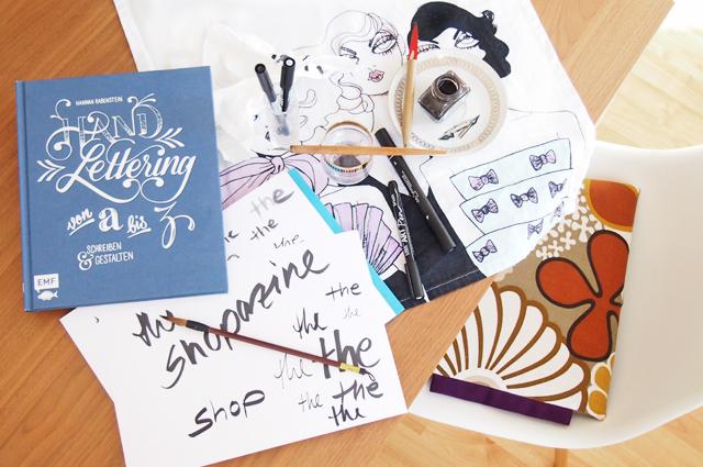 HandLettering von a-z, ein bcuh von Hannah Rabenstein, Kaligraphie und Handschrift selber machen, Tipps, anleitung, hilfe