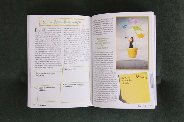 Tipps im Buch zu Themen wie Lifestyle, Liebe, Freundschaft, beauty