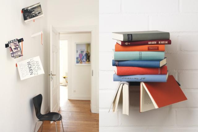 Wohnaccessoires, Buchhaöterung für die Wand und Buchhalter von Designbüro °es aus Düsseldorf online bestellen