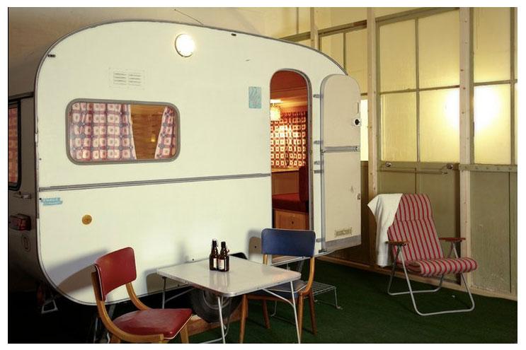 Mini-Caravan im Hüttenpalast in berlin