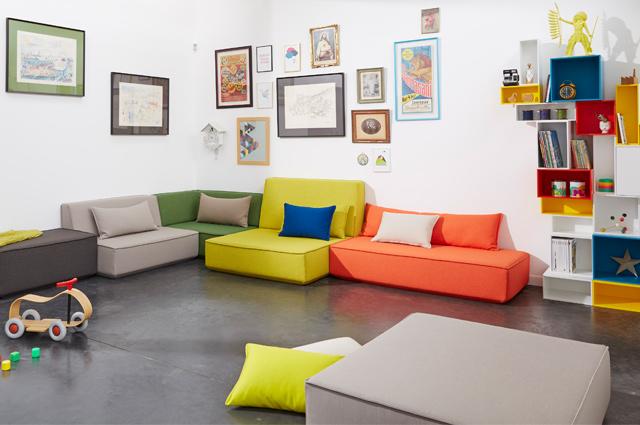 Modulares Regal- und Sofasystem zum selbst entwerfen von Cubit, individuell, Möbel