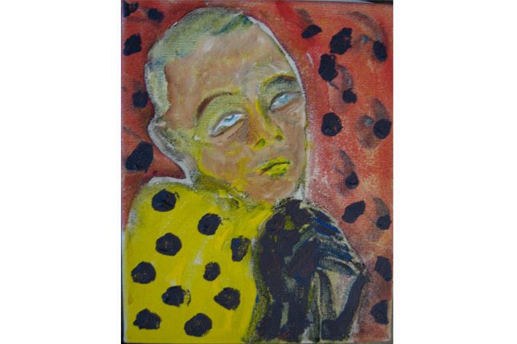 Gemälde von David Bowie - 'Mona in Berlin', 1977, Acryl auf Leinwand, Davib Bowie Ausstellung Berlin
