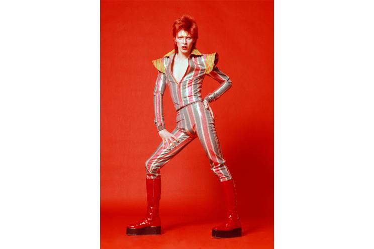 David Bowie, 1973, Fotografie von Masayoshi Sukita, © Sukita / The David Bowie Archive, Ausstellung, Kostüm, Bühnenoutfit