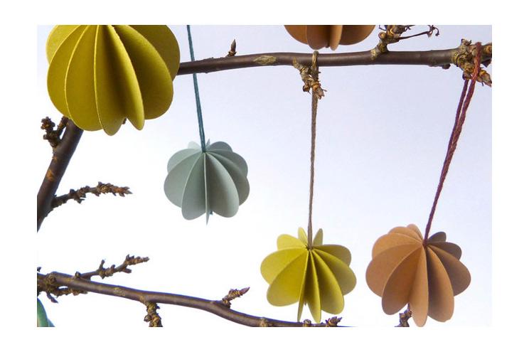 Weihnachtsbaumkugeln aus Papier von limited über DaWanda selbstgemacht DIY