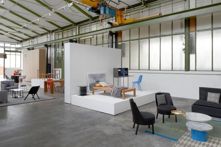 Der Showroom von e15 in Frankfurt am Main mit der aktuellen Kollektion, Designermöbel, Ausstellung