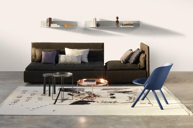 Designermöbel von e15 - Sofa, Regal, Couchtisch und Stuhl, Interior, Massivholz Möbel
