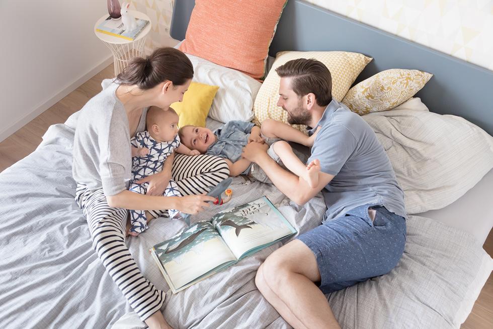unser großes familienbett - schlafen und genießen auf 4m²: the, Hause deko