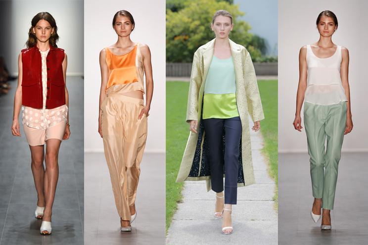 Tolle Farbkombinationen im Sommer 2015 - Malaikaraiss, Hien Le, Perret Schaad und Hien Le, Modetrend auf der Fashion Week Berlin Sommer 2015