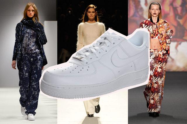 Fashion Week Berlin Winter 2014 - Trend: Weite Hose, flache Schuhe mit Nike Air Force one