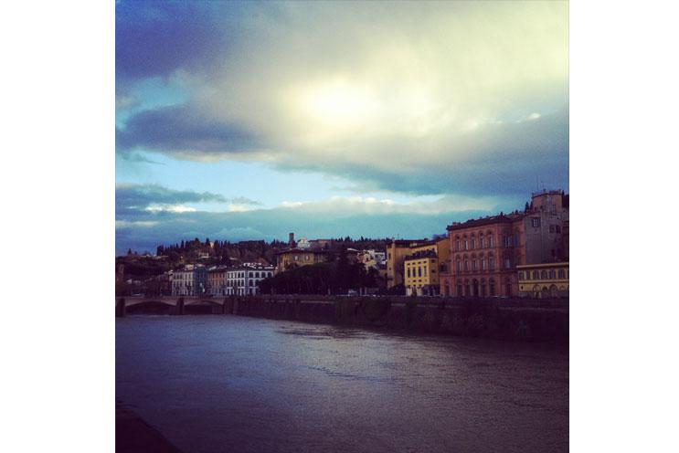 Florenz, Ponte Vecchio, Panorama,