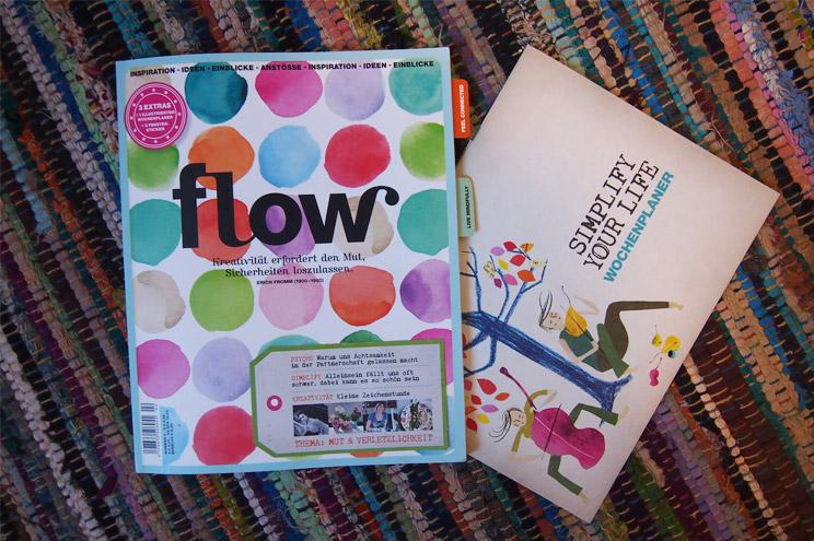 Flow Magazin Ausgabe 2 mit herausnehmbarem Simplify your Life Wochenplaner, illustriert