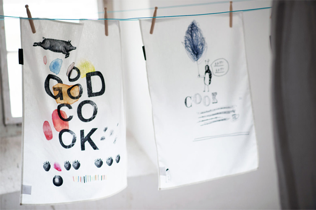 Geschirrtücher von TYPE HYPE mit Grafik, Print und Typo in Bunt online bestellen, online bestellen, Küchenschürzen, Kochschürzen