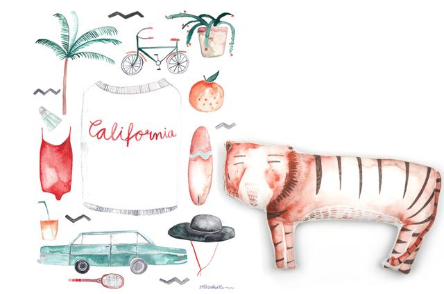 Poster California und Stofftier von Gretas Schwester mit Illustration von Sarah Neuendorf gewinnen