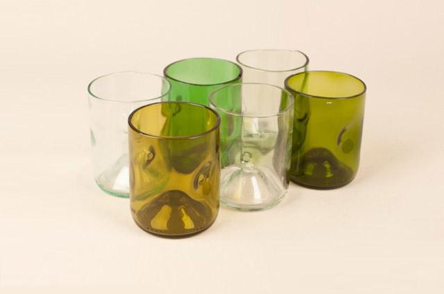 Jesper Jensen - Gläser aus Weinflaschen