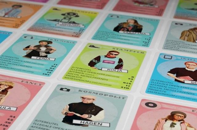 Das Hipster Quartett Kartenspiel von Normal Media