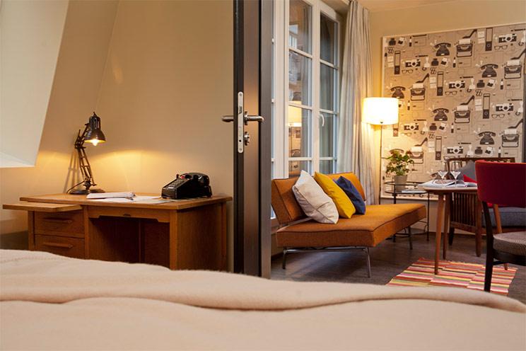 Hotel Henri Hamburg - Suite - Designhotel - 50er jahre Stil, Vintage, Wohnen wie Mad Men