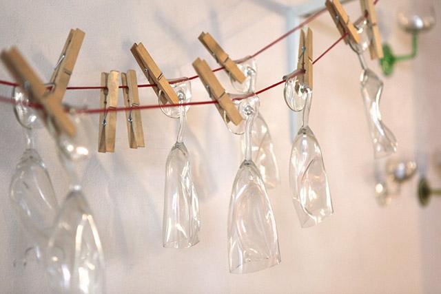 Sektgläser, Glaskunst von Designer Jesper Jensen aus Dänemark