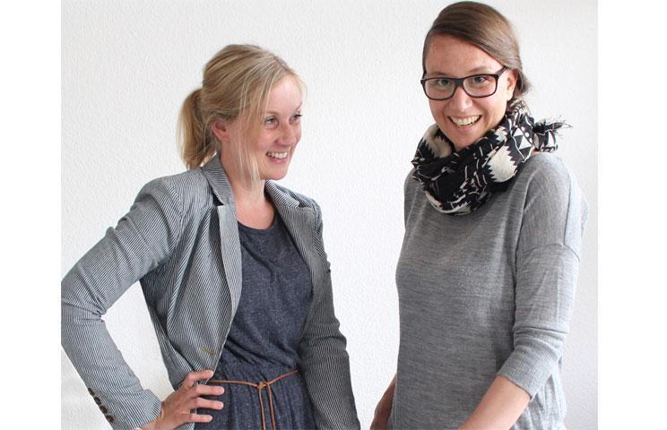 Kerstin Reilemann und Berit Lüdecke in ihrem Atelier in Hannover, Gründerinnen und Designerinnen Snug.Studio