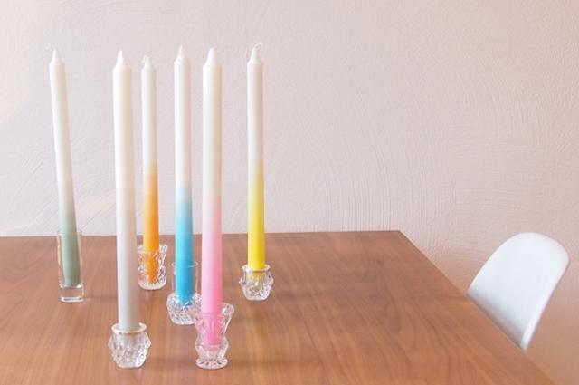 Dip Dye getauchte Kerzen Gradient Candles von Ulrike Jurklies Designstudio mo man tai
