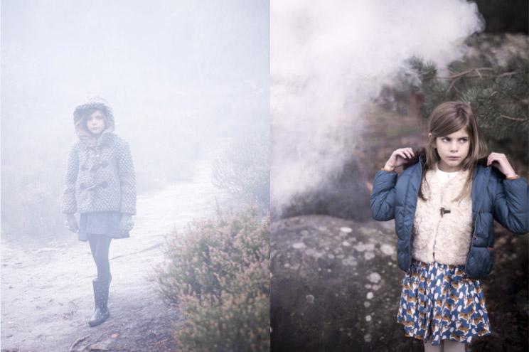 Kapuzenjacke in Grau für Kinder aus Wolle von Little Seven Eleven, Cardigan in Grau für Mädchen über Kinder Onlineshop Smallable
