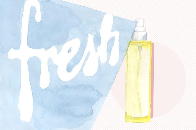 Body spray mit ätherischen ölen für den sommer