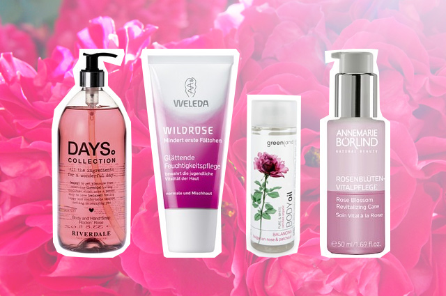 Kosmetik, Pflegeprodukte, Cremes und Körperpflege mit Rosenöl online bestellen, wirkstoffe, eigenschaften, rosen