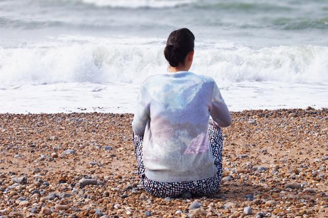Pullover von Kauf dich Glücklich mit Berg-Alpen-Print online bestellen