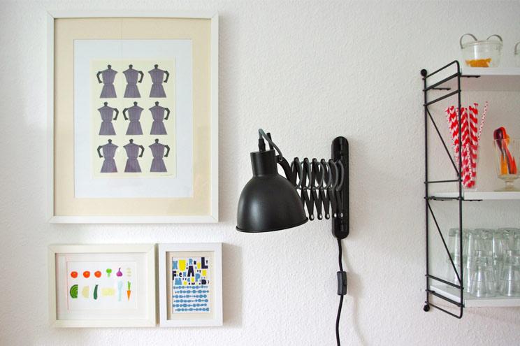 Wanddekoration mit Illustration, Postern und Bildern, Wandgestaltung, Inspiration