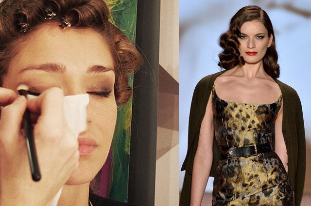 Lena Hoschek Hair und Make-Up im Winter 2014/15 auf der Mercedes benz fashion Week Berlin