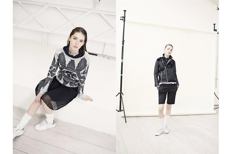Modelabel Leon & Harper, Kollektion Herbst/Winter 2014, Faltenrock und Bikerjacke in Leder, online bestellen