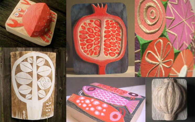 Illustrationen, Kunst und Relief aus Holz von leschiwelt online bestellen