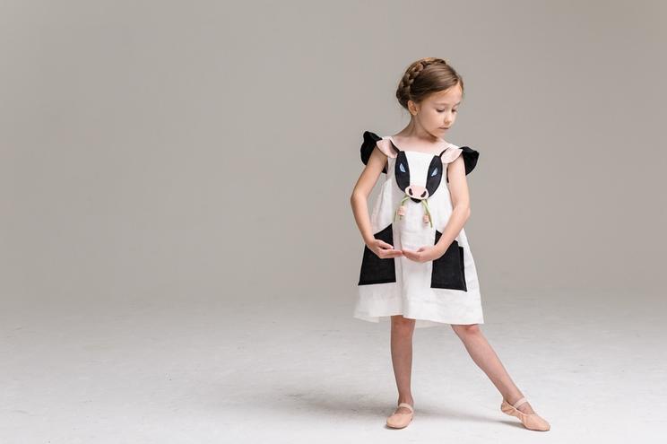 Kinderkleid aus der Sommerkollektion von Little Goodall, Kuh Design, Kinderkleid, Mädchen, Kostüm