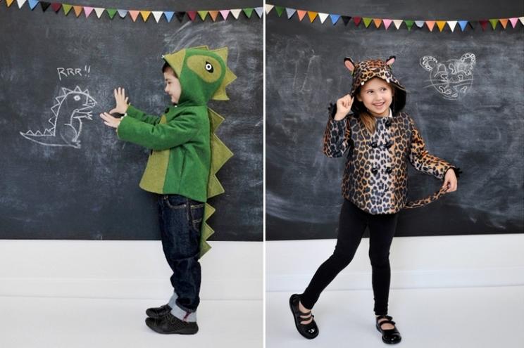 Wintermäntel für Kinder von Little Goodall mit Tier-Motiv, als Krokodil und Leoparden Kostüm, Filzmantel