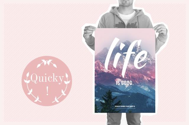 Life is now Poster von Home is where your heart is online bestellen, Druck, Print, Statement, Spruch, Zitat