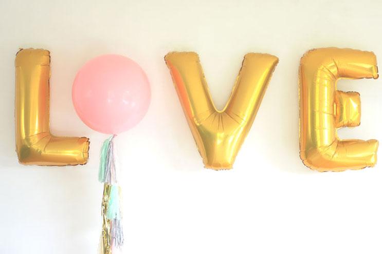 Dekorative Luftballons für die Hochzeit