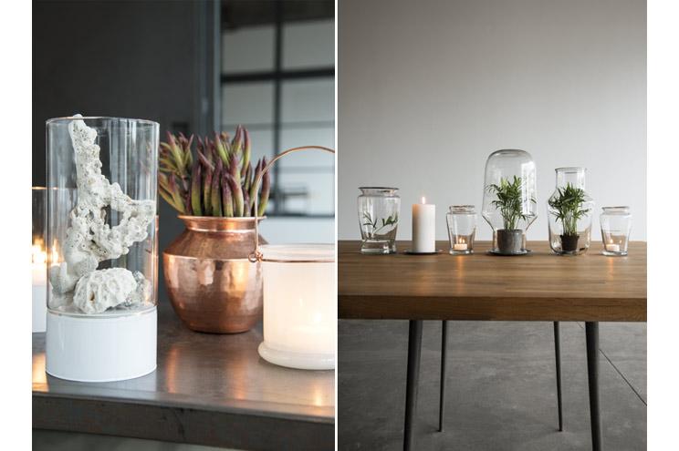 Einrichtung, Möbel und Dekoration von Madam Stoltz - Vasen aus Kupfer und Glasvasen für Pflanzen