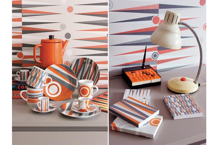 Geschirr und Porzellan von Magpie, Serien Backgammon in Grau und Orange, online bestellen