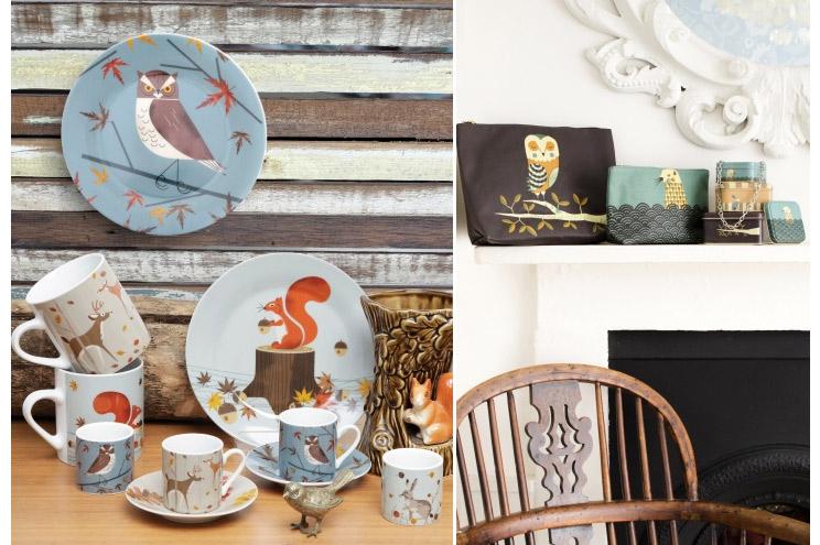 Porzellan und Geschirr von Magpie, Serie Wildlife, mit Waldtieren, online bestellen