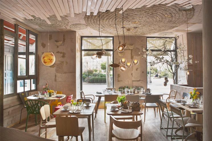 Bio-Restaurant Mama Campo in Madrid, Empfehlung für gute Gerichte, günstige Preise und tolle Inneneinrichtung und Design