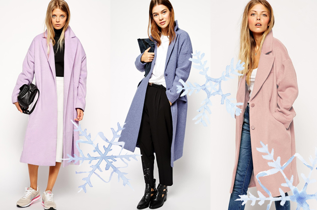 Modetrend im Winter 2014/14 - Wintermäntel in Pastell, Hallblau und Rosa online bestellen