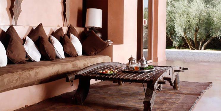 Inneneinrichtung marokkanisch und Wohnen im Ethno Look im Hotel Dar Sabra in Marrakesch, online bestellen, Wohnaccessoires, Dekoration