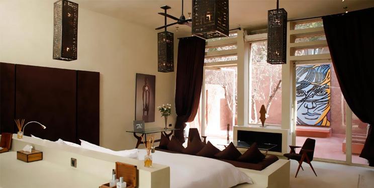 Zimmer im Designhotel Dar Sabra in Marrakesch, Marokko, Einrichtung im Ethno Look, Preise, Dekoration, online bestellen